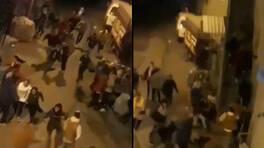 Kısıtlamayı umursamadılar! Polisi görünce çığlık çığlığa kaçtılar   Video