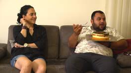 Talip Bey, bütün bir pastayı yemeğe kalktı ve tepki gördü!