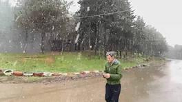 SON DAKİKA: İstanbul'da beklenen kar yağışı başladı | Video