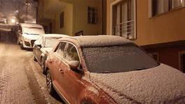İstanbul'da beklenen kar yağışı yüksek kesimlerde etkili oldu  | Video