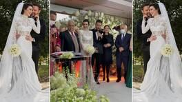 Burcu Kıratlı - Sinan Akçıl düğününden çok özel görüntüler!