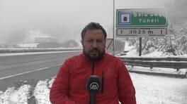 Bolu Dağı'nda kar etkili!