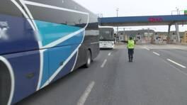 İstanbul'da yolcu otobüsleri tek tek denetlendi
