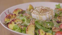 Arda'nın Mutfağı - Şeftalili Keçi Peynirli Salata Tarifi - Şeftalili Keçi Peynirli Salata Nasıl Yapılır?