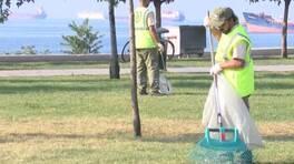 Yeşil alanlar çöplüğe döndü