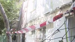 Kadıköy'de binanın iki balkonu çöktü