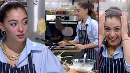 Cemre Baysel mutfakta şov yaptı!
