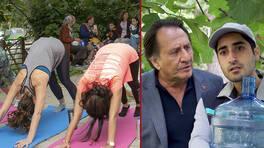 Mahalle mahalle olalı böyle yoga görmedi!