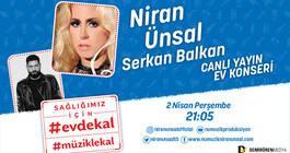 Niran Ünsal'ın çağrısı #EvdeKal #MüzikleKal için!