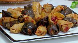 Kuru Kabak ve Patlıcan Sarması - Kuru Kabak ve Patlıcan Sarması Tarifi - Kuru Kabak ve Patlıcan Sarması Nasıl Yapılır?
