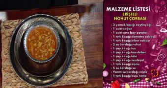 Gelinim Mutfakta - Erişteli Nohut Çorbası Tarifi