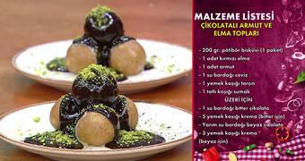 Gelinim Mutfakta - Çikolatalı Armut ve Elma Topları Tarifi