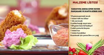 Gelinim Mutfakta - Kadayıfa Sarılı Çıtır Tavuk Parçaları ve Kapya Biber Sos Tarifi