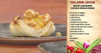 Gelinim Mutfakta - Milföy Çanağında Tavuklu Orman Kebabı Tarifi