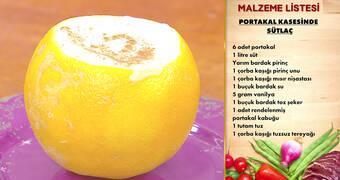 Gelinim Mutfakta - Portakal Kasesinde Sütlaç Tarifi
