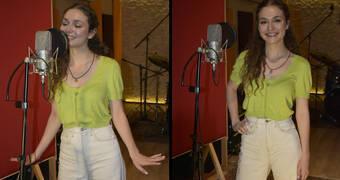 Serra Arıtürk, Aşkın Tarifi için stüdyoya girdi!