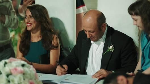 Sait ve Canan nikah masasına oturdu
