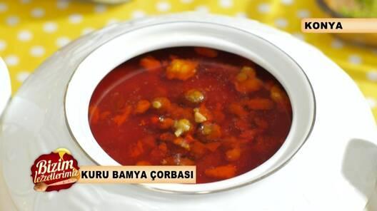 Kuru Bamya Çorbası